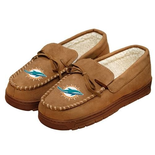 Miami Dolphins Mens Moccasin Slipper (Pre Order - Delivered By 12-19)