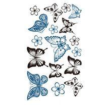 Vlinder Ontworpen Tijdelijke tatoeages Waterdichte Body Art Nep Tattoo(China (Mainland))