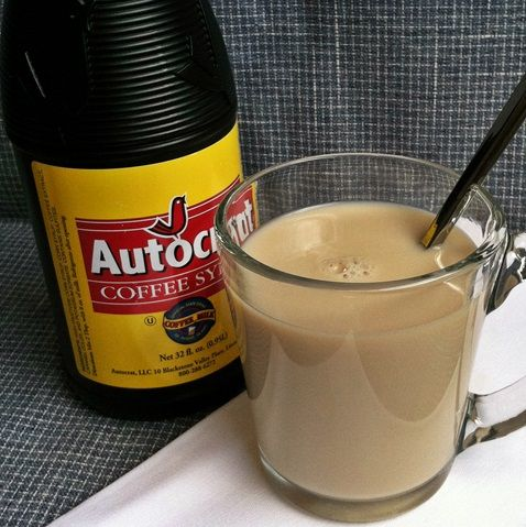 coffee milk autocrat- What do you get when you add coffee syrup to ice cold milk? In Rhode Island, you get the official state drink — coffee milk.