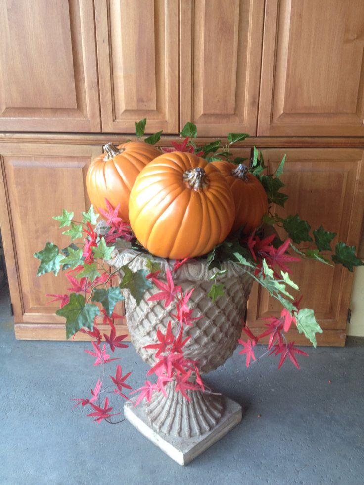 Pumpkins in your porch planter