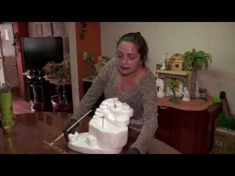 ¿Cómo elaborar una fuente de agua para el pesebre? - YouTube