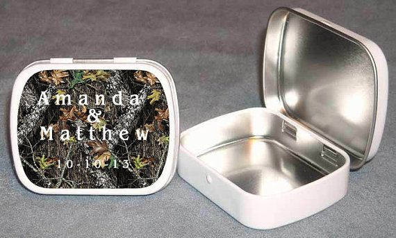 Mossy Oak Camouflage Wedding Guest Favor by PersonalizedCandles, $16.50