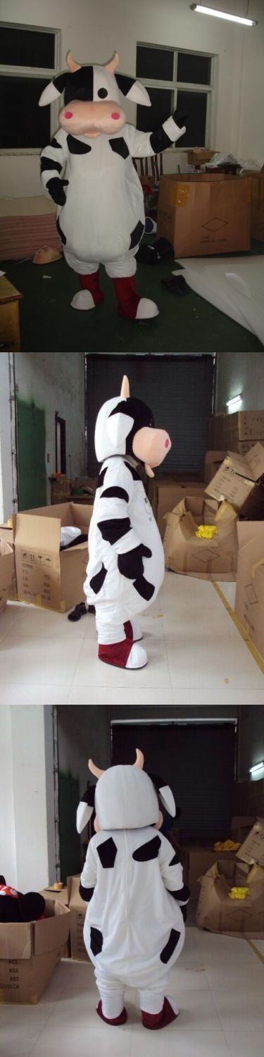 Unisex 86207: The New Lovely Cow Cartoon Mascot Of 2017, The Mascot Costume Adult -> BUY IT NOW ONLY: $61.5 on eBay!
