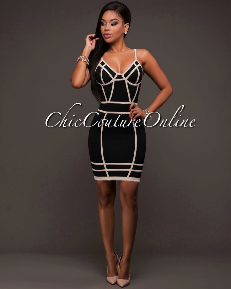 Chic Couture Online - Lysse Black Nude Trim Body-Con Dress,(http://www.chiccoutureonline.com/lysse-black-nude-trim-body-con-dress/)