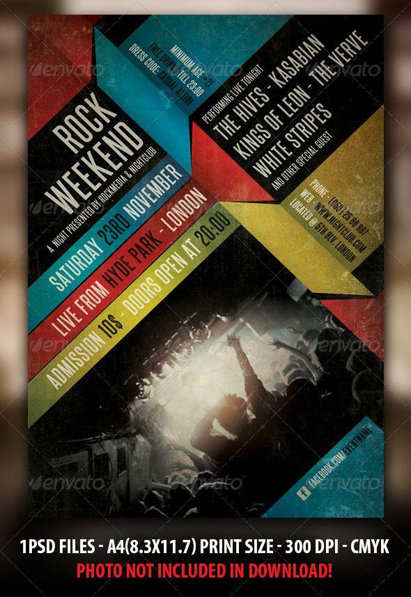 Terbaik Ide Tentang Concert Flyer Di   Poster Layout