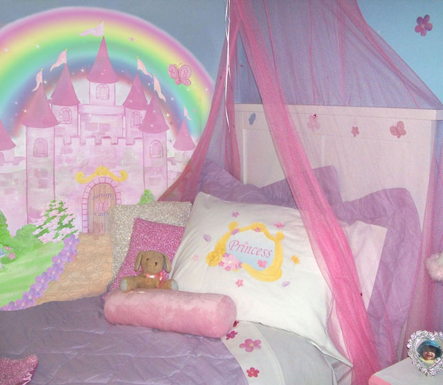 31 best images about over the rainbow kids bedrooms on for Girls murals