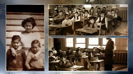 Source: Photograph Date of Origin: 1922 This photograph shows how the First Nation children were put in a residential school were they were taught the new Canadian Christianity. The schools were made for kids from 7-15. A lot were molested, maltreated and abused. If you were a First Nation child you couldn't leave the house because it was mandatory for you.