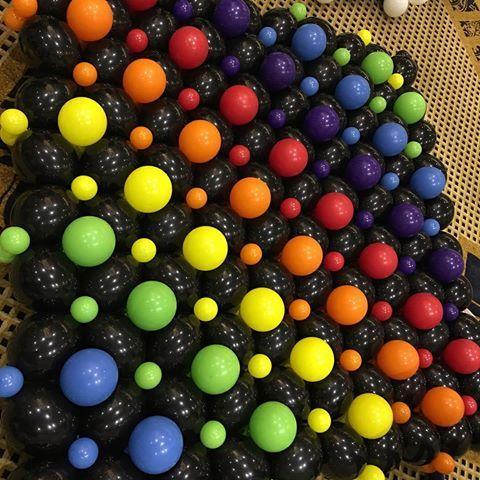 Rainbow Balloon wall   #sydneyballoons #sydneyballoondecorator