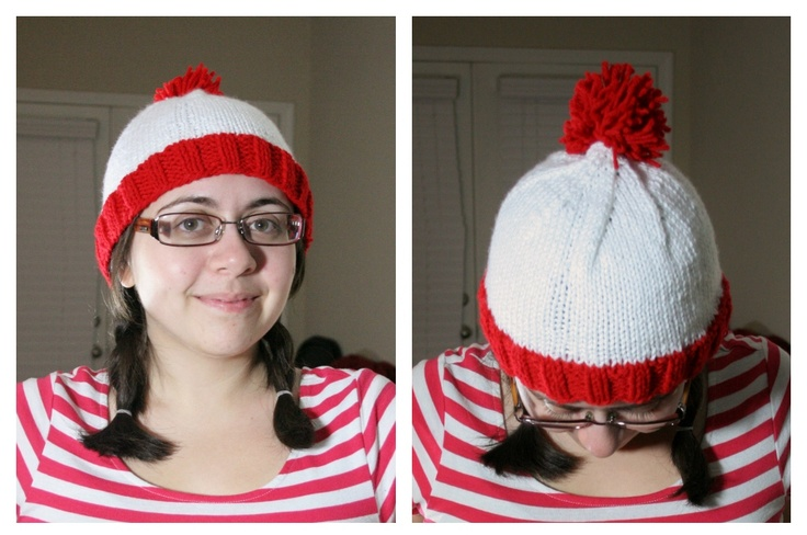 Where's Waldo Knit Beanie Hat -- Free Pattern!