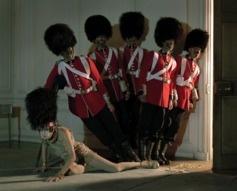 Malgosia Bela and five guardsmen Glemham Hall, Suffolk, 2009
