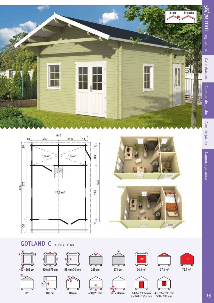 EZ Log Structures | 58/70 mm Garden Houses | PDF to Flipbook
