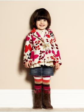 Toddler Outfit Kids Fashion Mixed Prints Bright Orange Pink Boots