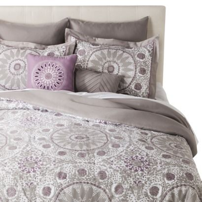 wish it had blues instead of purple....  Iris Medallion 8 Piece Comforter Set