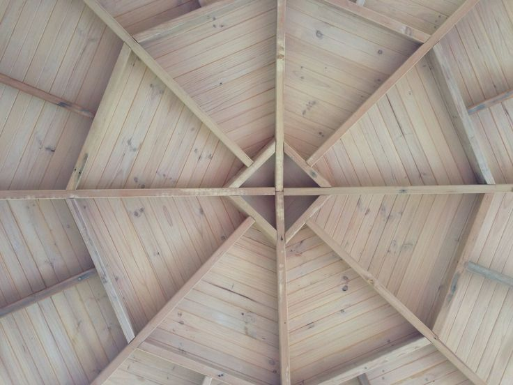 Lime washed ceiling inside the yurt