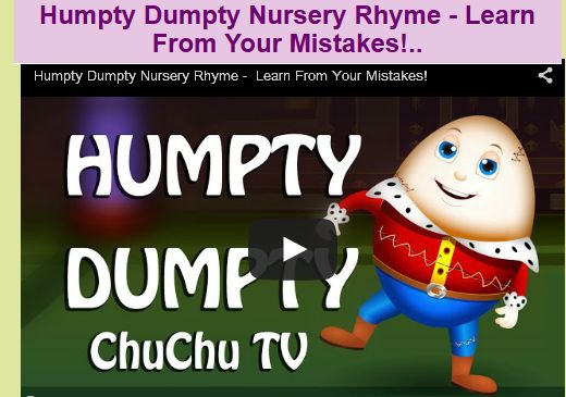 Humpty Dumpty Nursery Rhyme - Learn From Your Mistakes!..