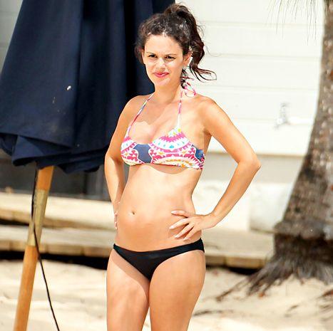 Rachel Bilson Bares Growing Baby Bump, Kisses Hayden Christensen - Us Weekly