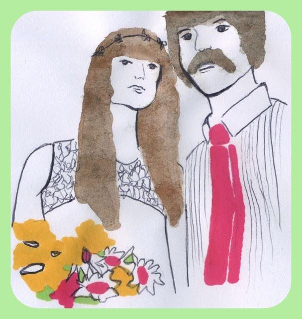 Just Married #illustration #lovelycouple #themojomatics http://dettapini.blogspot.it/2012/08/i-coniugi-zolli.html