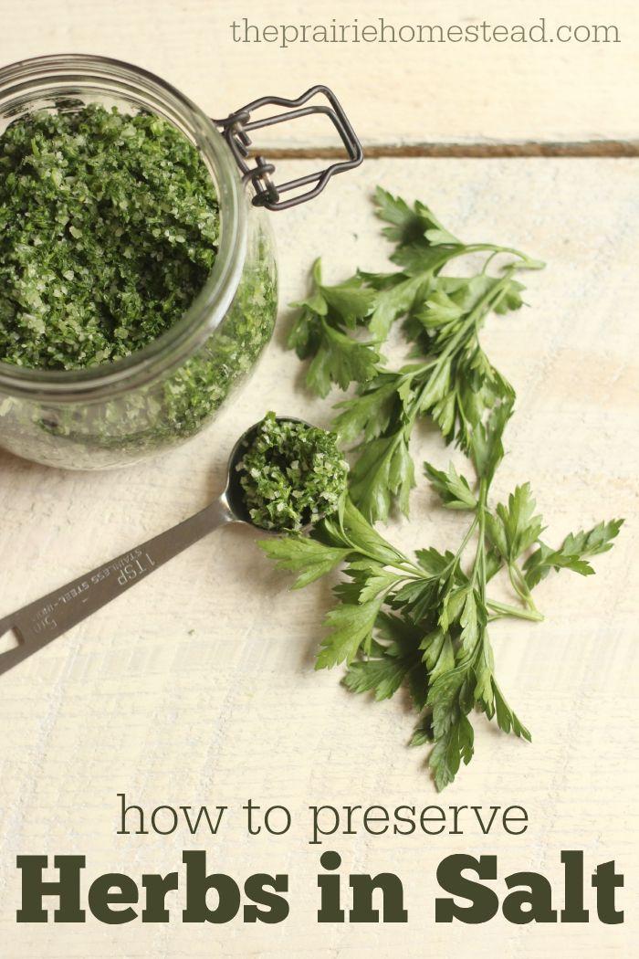 3c herbs to 1/2 c coarse/kosher salt. in food processor or chop. fridge 7-14 days to meld flavors