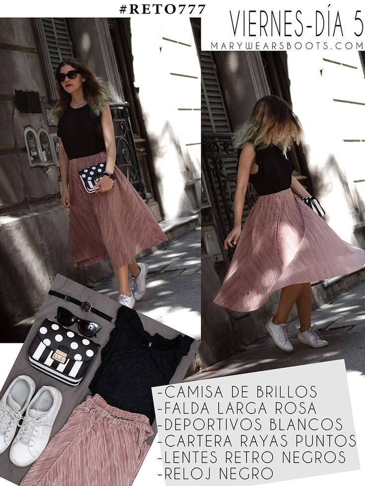 7 OUTFITS PARA TODA LA SEMANA CON 7 PRENDAS DE ROPA Midi Skirt, Casual Outfits, Tulle, Street Style, Skirts, How To Wear, Clothes, Challenges, Happy