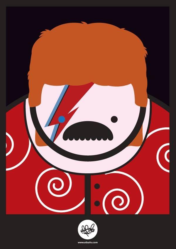 Pierpaolo Paoletti, illustration in memory of David Bowie - Masonry / Massoneria Creativa - www.massoneriacreativa.com