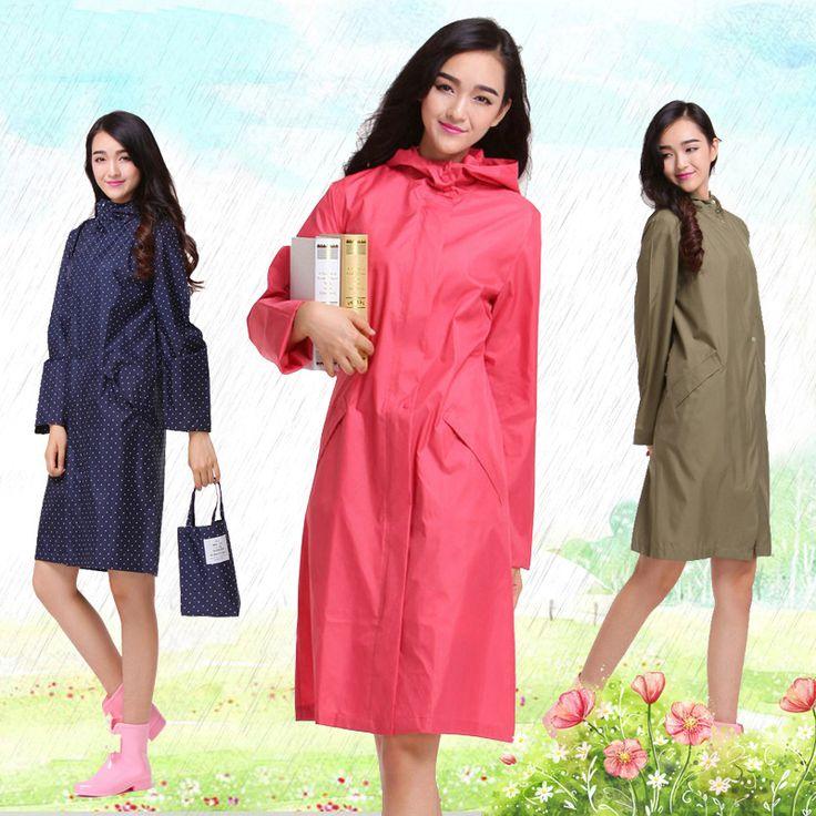 Waterproof Women Raincoat Nylon Poncho Rain Outdoor Regenjas Chubasquero Travel Coat Impermeable Plastic Raincoat DDGZ78 #Affiliate