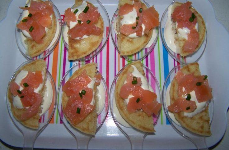Recette - Bouchées blinis et saumon | 750g