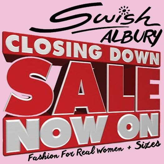 #Swish Albury Sizes 12+ C L O S I N G D O W N S A L E !! Clearance Sale now on at 583A Dean Street, Albury. Ph 02 6021 3888. We are relocating our Albury store and currently clearing all stock! Get in for a great bargain. ONLY 2 WEEKS left!!! #plussizedresses #ClearanceSale #fashionplus #fashion #realfashion #shoppingonline #shoponline #shopaholic #fashionista #curve