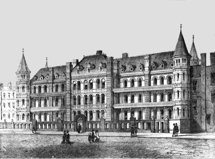 Great Ormond Street Hospital for Children, the first hospital in England dedicated to children (1830-1880).