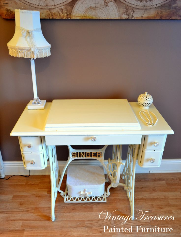 Antique Singer Sewing Machine Turned Into The Vanity