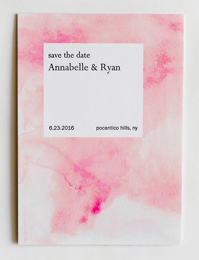 Soft Modern Watercolor Wedding Invitations by Miks Letterpress / Photo by Rachel Lynn Photography via Oh So Beautiful Paper