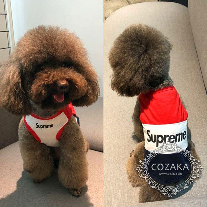 タイディ 可愛い犬服 Supreme ペットウェア シュプリーム ドッグ服 ペット服 犬 猫 服