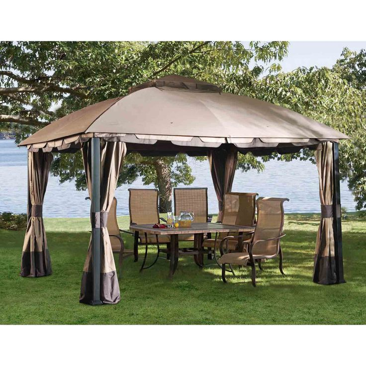 Pine Knob Canopy 12 Ft. W x 10 Ft. D Steel Gazebo
