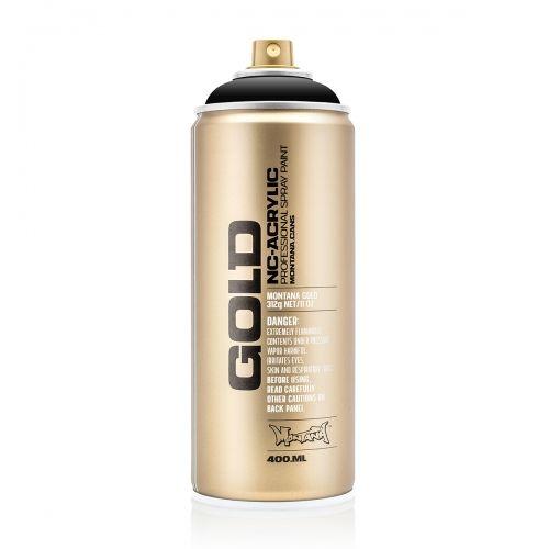 Bombe de peinture Acrylique GOLD 400 ml - Shcok Black S 9000 - Montana