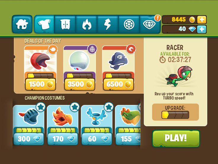 Runsheldon game ui design
