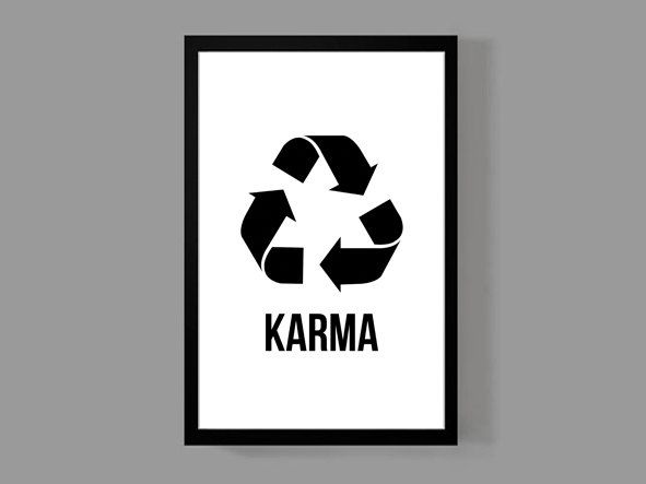Karma Poster Print • Modern Wall Art • Quirky Unique Home Apartment Dorm Fun by MusicAndArtCoUSA on Etsy