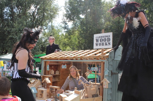 the pop-up shed, made from reclaimed garden sheds and fences etc.  On display are some bird/bug boxes and other decorative items all made from reclaimed wood.