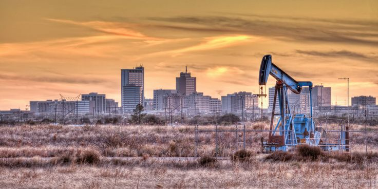 Pumpjack, Midland Texas, fall, sunse