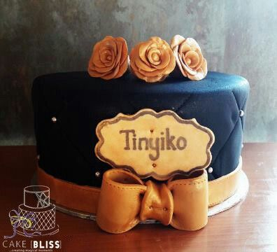 21st Birthday Quilted Cake, gold and black theme. Chocolate sponge with chocolate filling