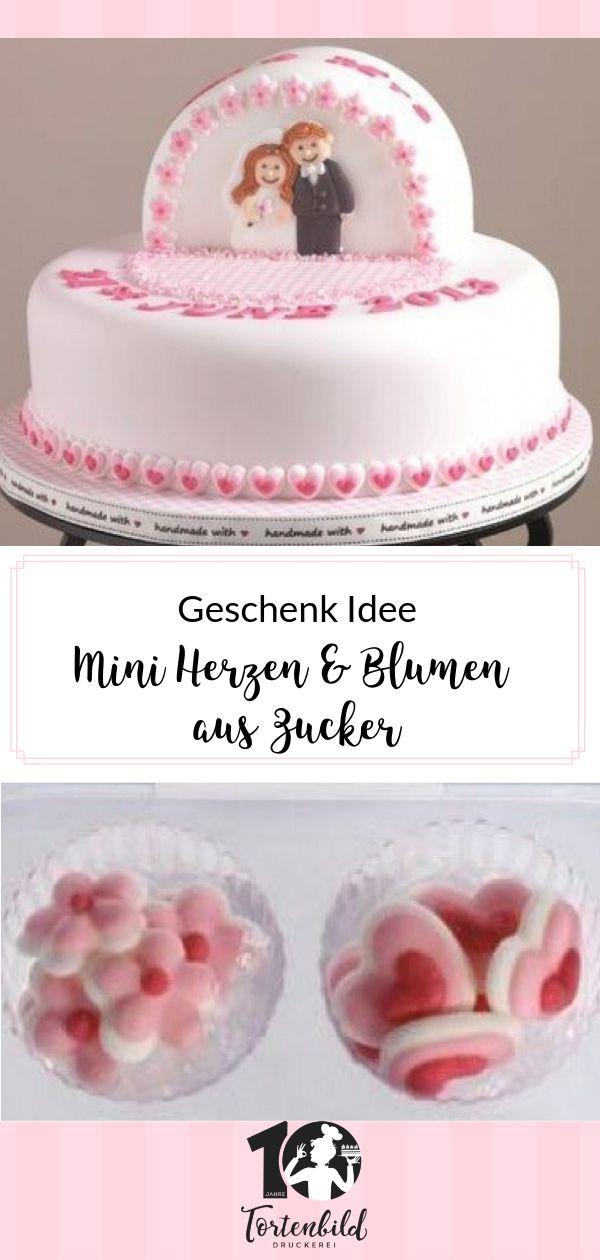 Culpitt Zuckerpaste – Mini Herzen & Blumen – Rosa – ❤️Valentinstag | Jahrestag | Muttertag | Tortenbild❤️