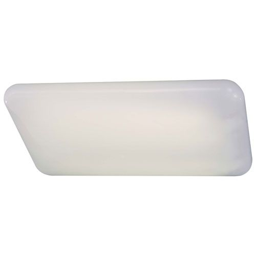 White Cloud Short Wide Fluorescent Kitchen Light Minka Lavery Flush Fluorescents Flush & S