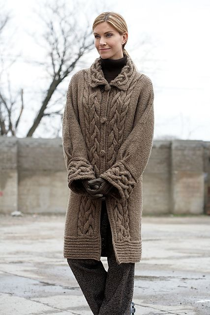 Cable Car Coat by Patonsclose     © Patons