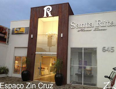 Efeito Aço Corten realizado na fachada da loja Santa Rita House Decor