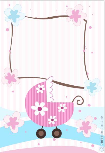 New Baby Girl Shower Invitation
