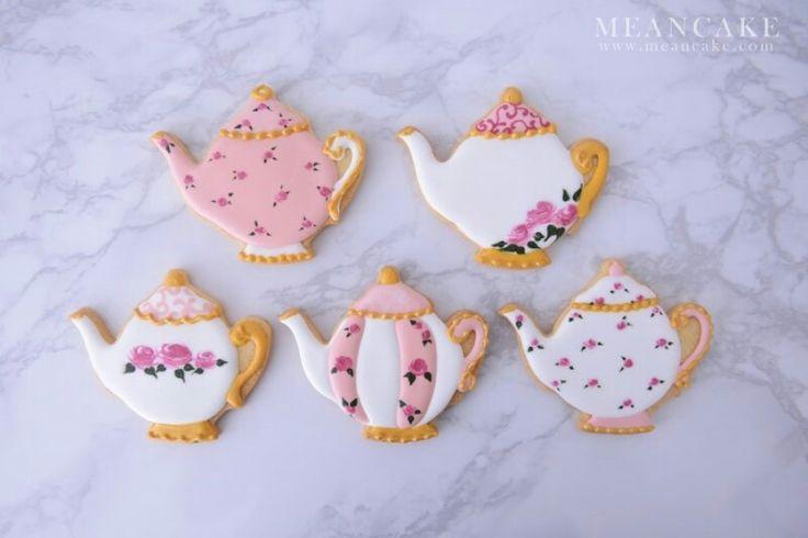 teapot cookies , cookie , icing cookie , rose , royalicing , edible art , sugar cookies , sugarcraft