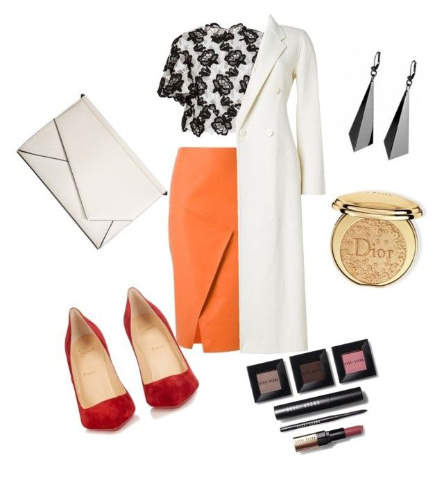 """Untitled #43"" by inna-usova ❤ liked on Polyvore featuring Andrea Marques, Monique Lhuillier, Christian Louboutin, Joseph, Kendall + Kylie, Christian Dior and Bobbi Brown Cosmetics"