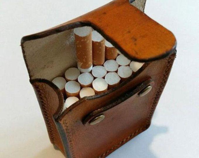 Zigaretten-Lederetui, Сigarette Inhaber, Geschenke für Raucher, Tabakbeutel,