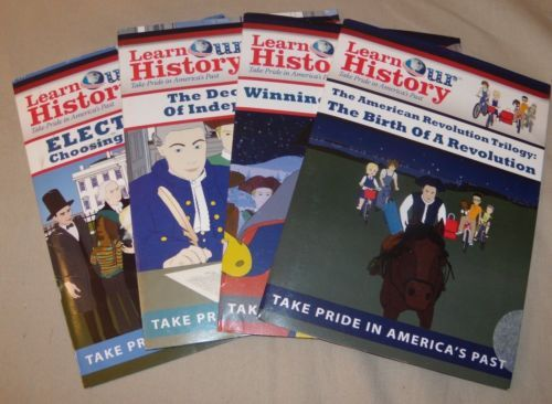 Learn-Our-History-Take-Pride-in-Americas-Past-Educational-Homeschool-4-DVD-Lot