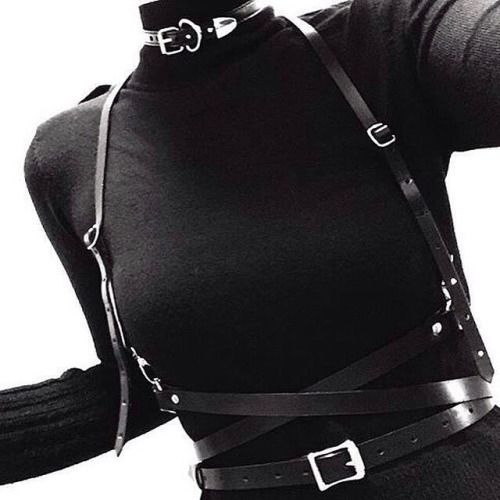 turtleneck and harness<3