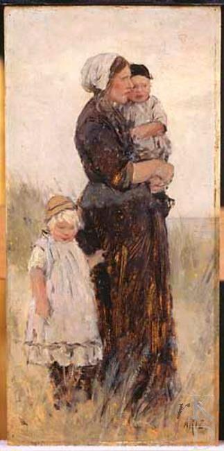 David Adolph Constant Artz Vrouw uit Scheveningen 1852-1890 Den Haag, De Mesdag Collectie, inv./cat.nr. nr. 9 #ZuidHolland #Scheveningen