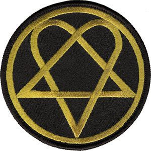 HIM Heartagram Band Round Logo Patch CD-P2837 by Preegle.com